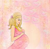 Beautiful pregnant girl background