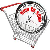 Time to Save Clock in Shopping Cart