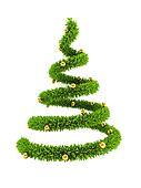 3d symbolic New Year's tree