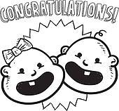 Congratulations new baby sketch