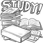 Clip Art Study Clip Art study clip art royalty free gograph illustration school sketch