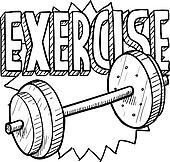 Weight workout sketch