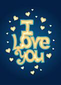 """I Love you"" lettering"