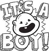It's a boy baby sketch