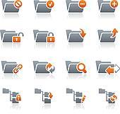 Folder Icons - 1 // Graphite Series
