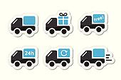 Delivery car, shipping vector icons