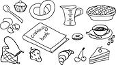 cooking  and baking vector set