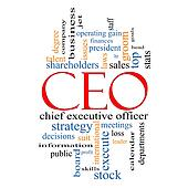 CEO Word Cloud Concept