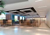 3d modern office room