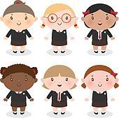 Multi-Ethnic schoolgirl