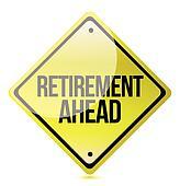 Caution - Retirement Ahead yellow street
