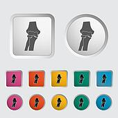 Knee-joint single icon.