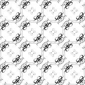 Monochrome seamless classic pattern on white background