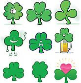 Shamrock Character Illustration Set