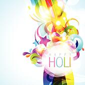 vector colorful holi background