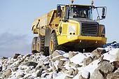 giant truck in rocky terrain