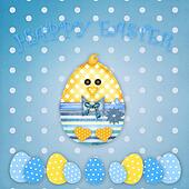 easter card with a boy chick