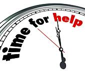 Time for Help Clock Countdown Fundraiser Charity