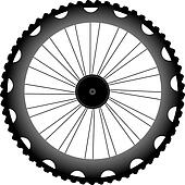 vector bike wheel black silhouette