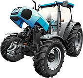 tractor with open hood