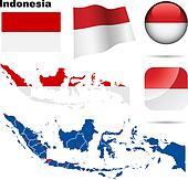 Indonesia vector set.