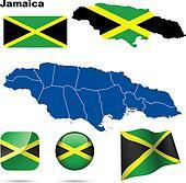 Jamaica vector set.