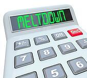 Meltdown - Financial Budget Problems on Calculator Problem