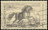 Old Engravings of Horses stamp, circa 1969