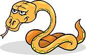 snake reptile cartoon illustration