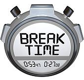 Break Time Stopwatch Timer Clock Pause for Rest
