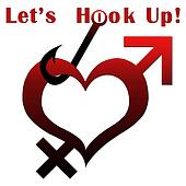 Heart Shape with Lets Hook Up text