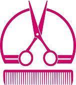 barbershop icon with scissors