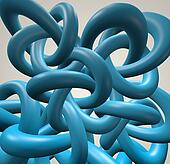 Torus Knot background.Gordian Knot