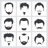 Male hair graphics