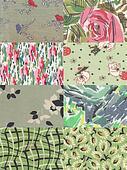 light green quilt background
