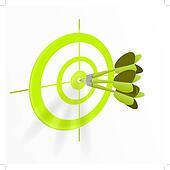 Multiple darts bullseye