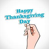 Happy Thanksgiving Day Word