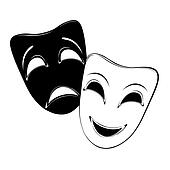 Theater Masks Clip Art - Royalty Free - GoGraph