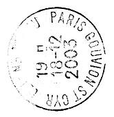 paris postage stamp isolated on whi