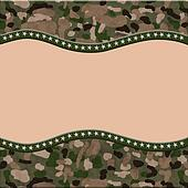 Camouflage Torn Background for your message or invitation