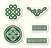 Celtic green knots, braids