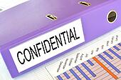 CONFIDENTIAL  folder on a market report