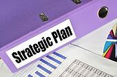 Strategic Plan folder on a market report
