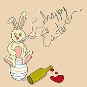 Humor Happy Easter Bunny
