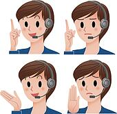Customer service operator expressio