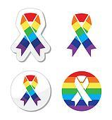 Rainbow flag ribbon