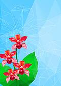 orchid, vector illustration, polygonal style