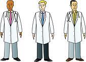 Medical Professionals In Labcoats