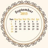 September calender 2013