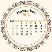 November calender 2013